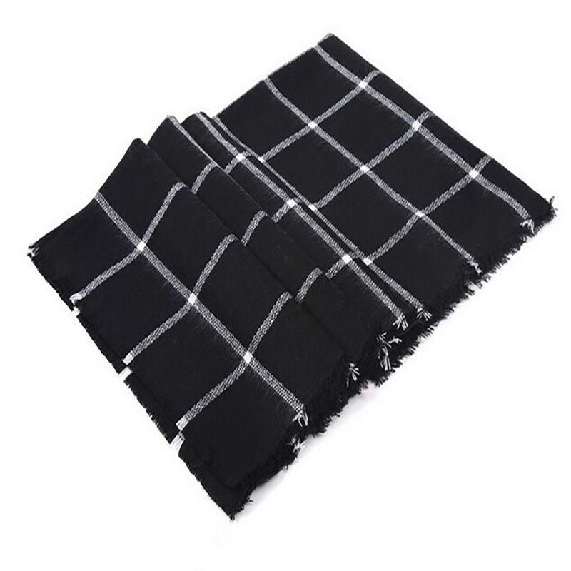 Écharpe pour femmes plaid bufandas mujer noir chaud écharpe femmes hiver écharpes châles étoles couverture écharpe de luxe marque