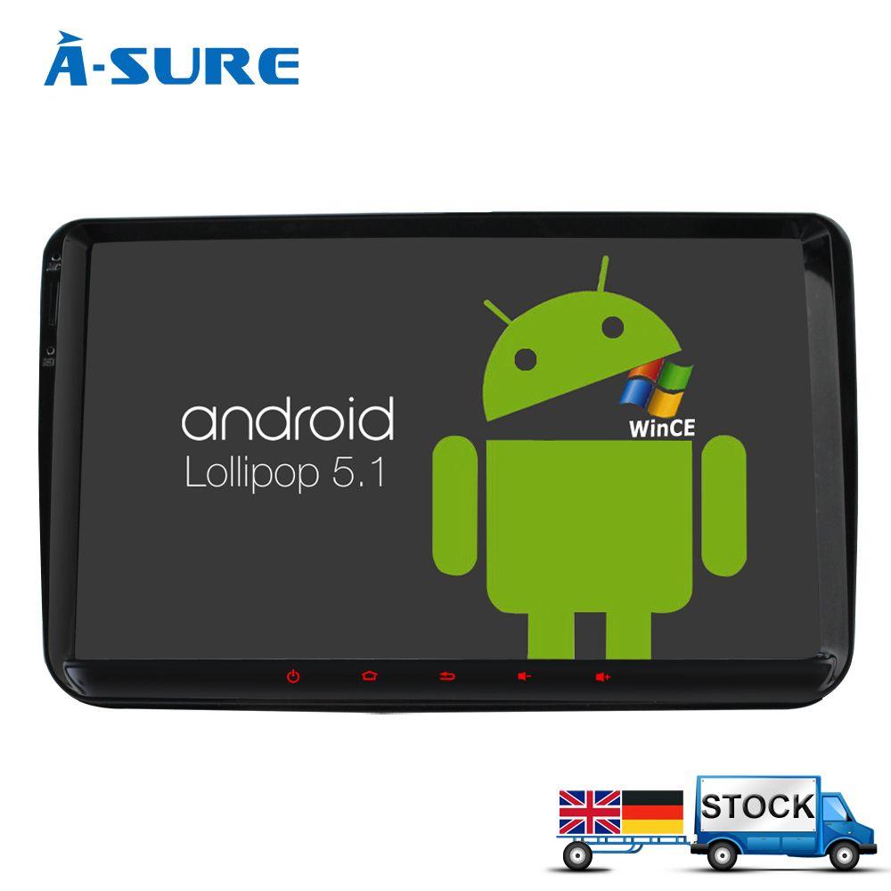 A-Sure DAB+ 9'' Android 6.0 Radio Player Navi Sat Nav GPS for VW PASSAT Sharan TIGUAN TOURAN CADDY GOLF T5 Jetta Polo EOS