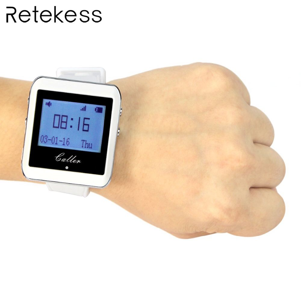 Retekess 433MHz Watch Receiver Wireless Calling System Waiter Call Pager Restaurant Equipment Catering Customer Service F3288B