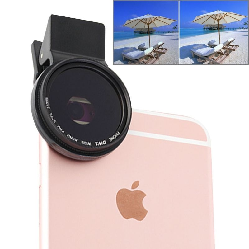 Universal Clip Polarizer 37mm 2.0X CPL Filter Mobile Phone Lens Polariscope for iPhone 7 Plus 5s Samsung S3 Note3 S4 Camera Lens