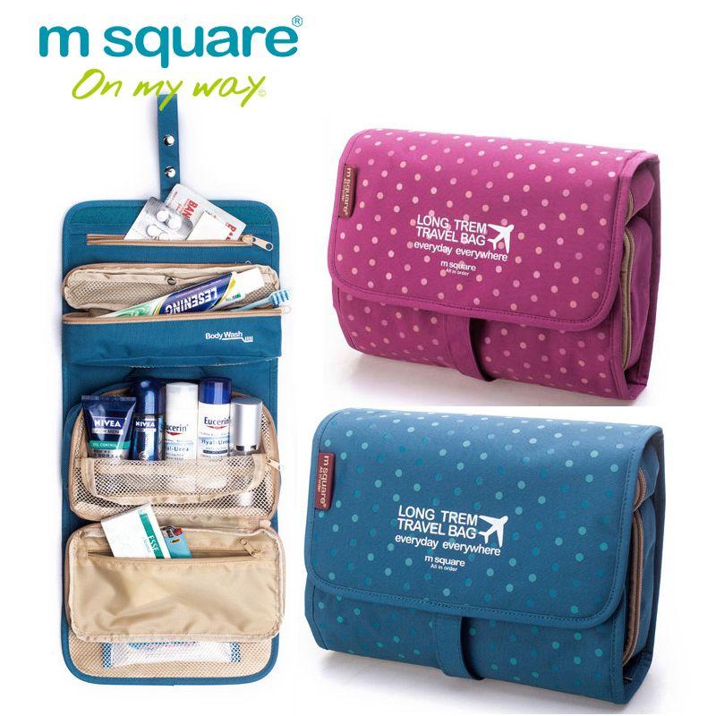 M carré esthéticienne voyage cosmétique sac organisateur de toilette maquillage sac organisateur lavage maquillage sac Bolsa Neceser Maquillaje Case