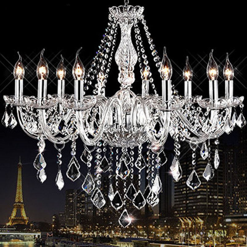 Modern crystal chandelier light fixtures Clear K9 crystal lustres de cristal chandelier lamp for living room kitchen candelabro