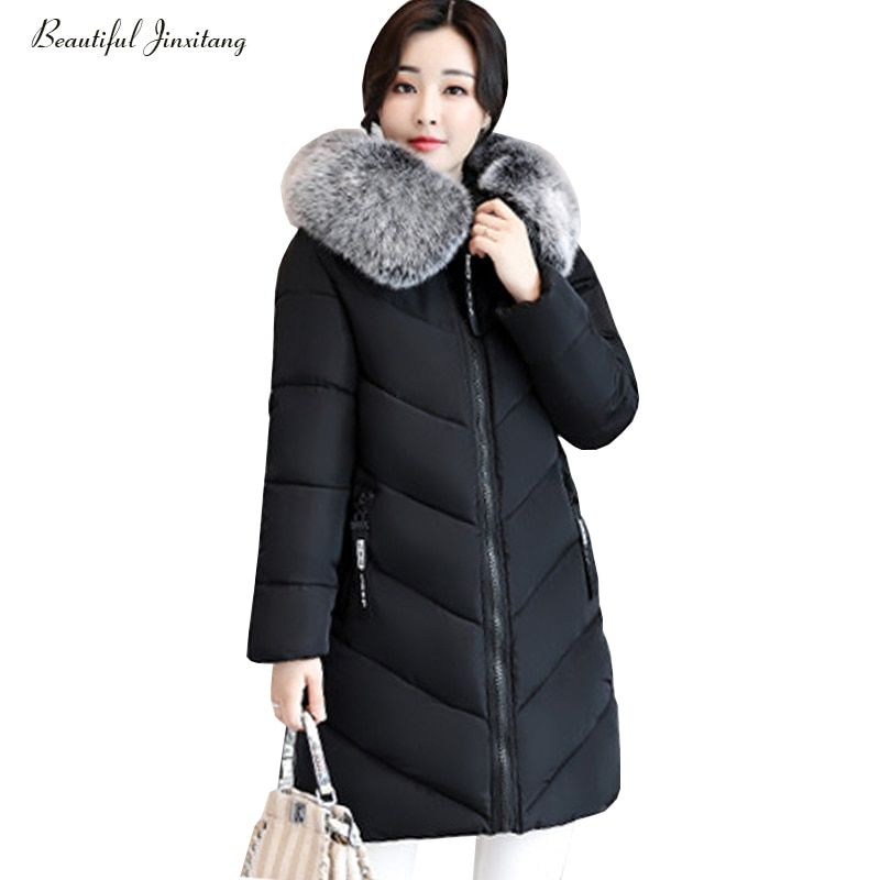 XL-6XL large size women down jacket big fur collor fashion girl style of slim women clothing hooded coats thick down coats W73A4