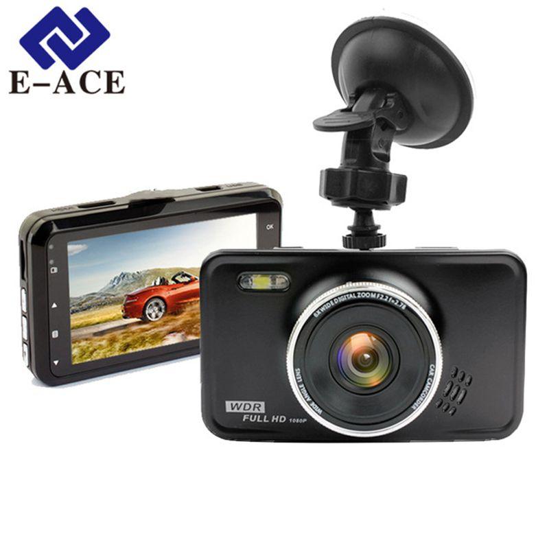 E-ACE Car Dvr Camara Full HD 1080P Video Recorder With Led Flashlight Dashcam Auto Registrar Car Camcorder Dash Camera Car DVRs