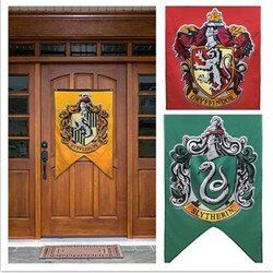 Nouveau Collège Drapeau Bannières Gryffondor Serpentard Hufflerpuff Serdaigle Garçons Filles Enfants Décor Harry Potter Fournitures De Fête De Noël