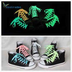 gootrades 2PC 100cm Luminous Glow In The Dark Shoelace Athletic Sport Sneaker Shoe Laces Strings