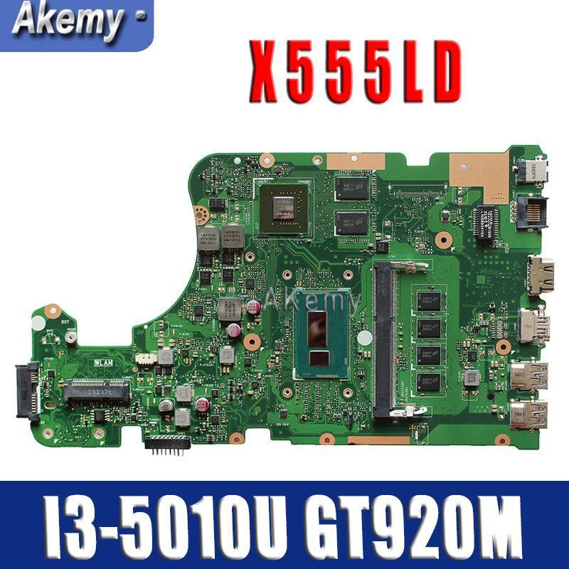 Amazoon X555LD Laptop motherboard for ASUS X555LD X555LDB X555LA X555LB X555L Test original mianboard 4G-RAM I3-5010U GT920M