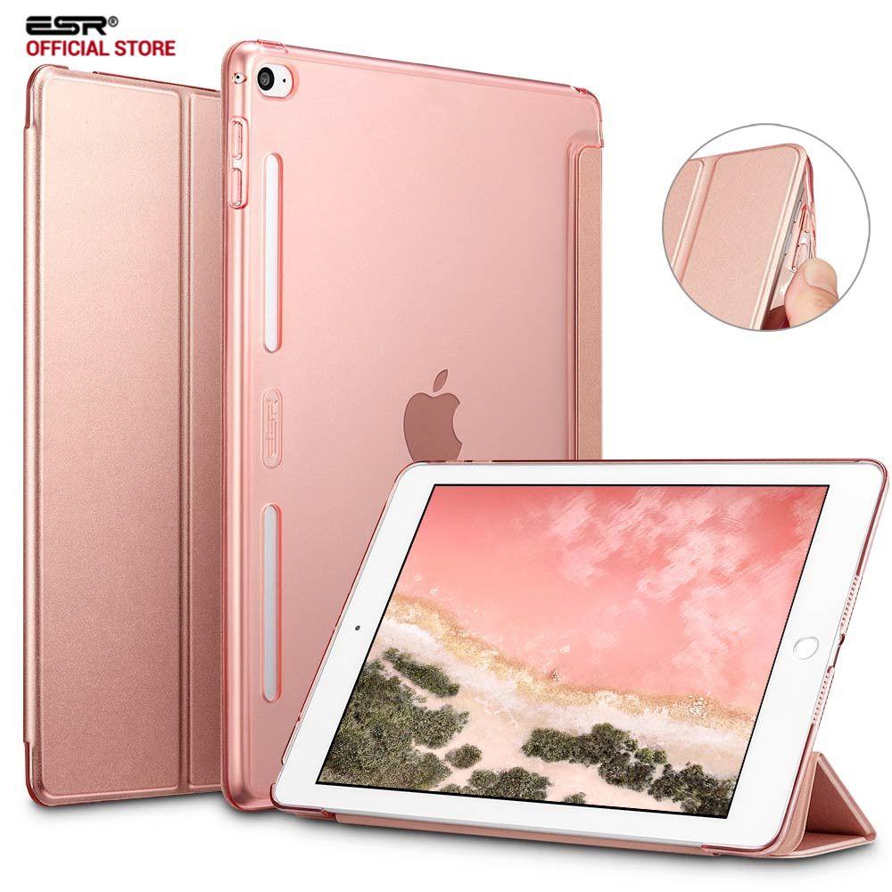 Étui pour iPad mini 4, couverture arrière translucide en cuir PU ESR hybride [coin souple] [Ultra mince] couleur couverture intelligente pour iPad mini 4