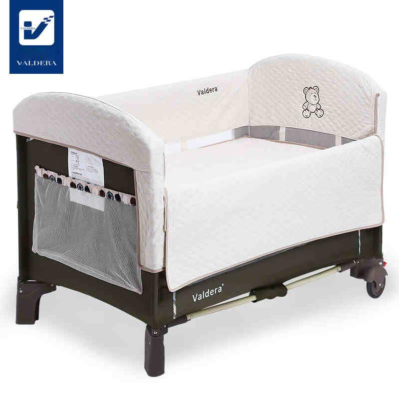 valdera crib foldable portable multi-purpose game bed cradle bed docking cradle