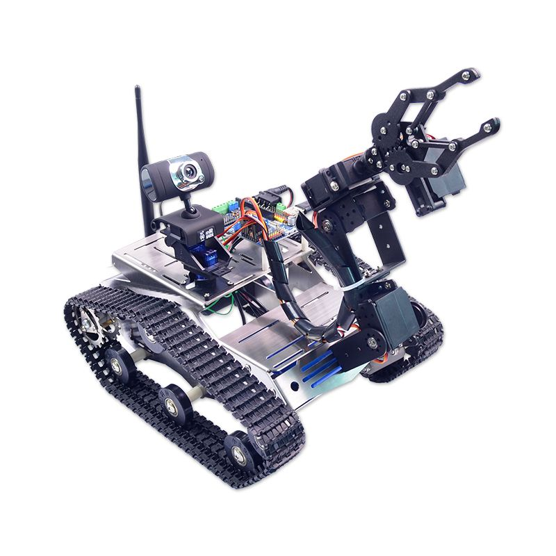 Xiao R DIY WiFi Video Smart Robot Tank Car For 51 Duino with Camera PTZ Science RC Toys Intelliengence Kids Presents