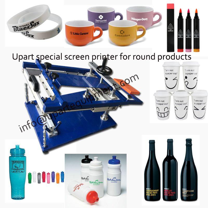 Kunststoff druckmaschine für flaschen/tassen/becher/stifte mit einfarbige label