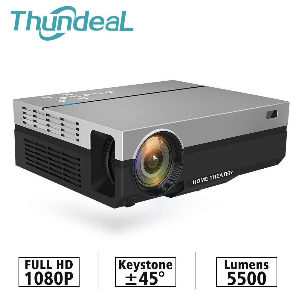 ThundeaL projecteur Full HD T26K natif 1080P 5500 Lumens LED vidéo LCD Home cinéma cinéma HDMI VGA USB TV 3D T26L T26 projecteur
