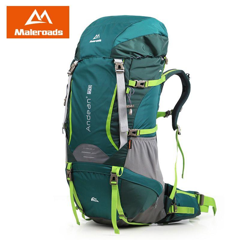 70L Hiking Backpack Maleroads Professional CR System Climb Bag Outdoor Travel Backpack Camping equip Trekking Rucksack Men Women