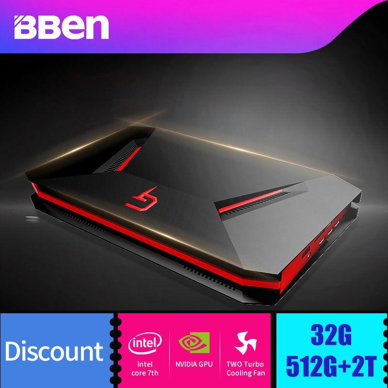 Bben GB01 Laptop Gaming Computer 6G GDDR5 Ram NVIDIA GEFORCE GTX1060 Intel I7-7700HQ CPU 8G/16G/32G Ram Option WIFI BT4.0
