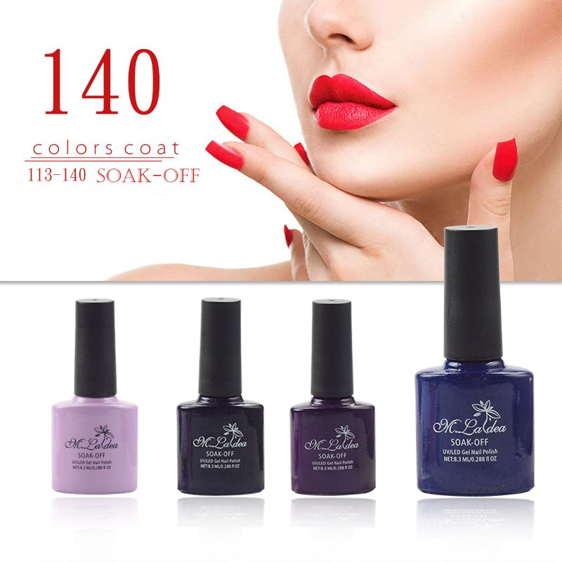 m.ladea 140 colors nail design DIY  UV gel LED 8.3ml  UV gel polish glue 6 bottles of combination