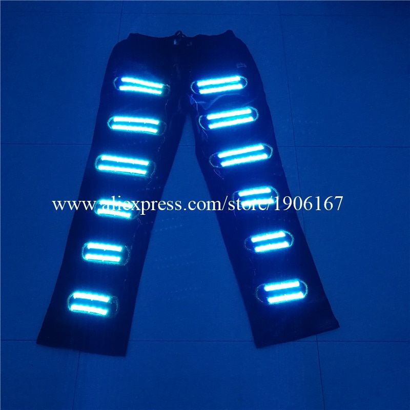 Colorful Led Luminous Stage Dance Clothes RGB Led Light Up Pants Party Supplies