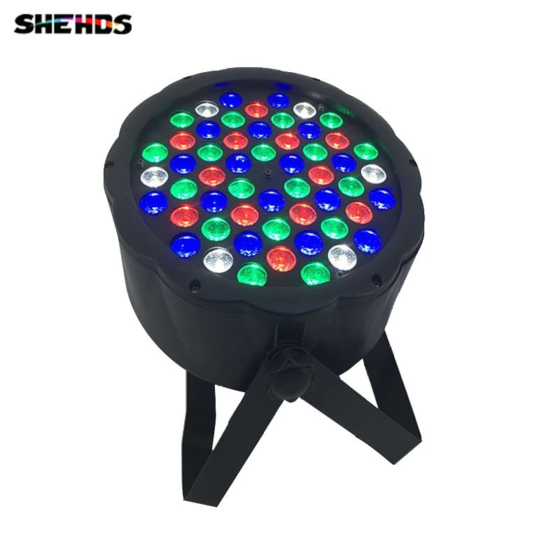 Fast Shipping LED 54x3W <font><b>RGBW</b></font> LED Flat Par <font><b>RGBW</b></font> Color Mixing DJ Wash Light Stage Uplighting KTV Disco DJ DMX512