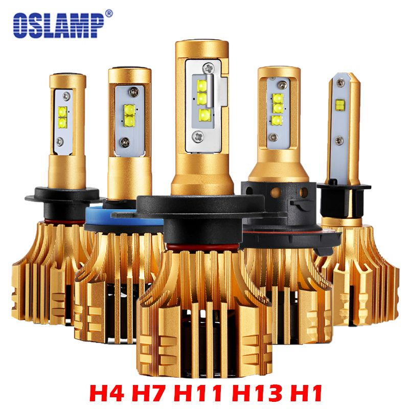 Oslamp S6 H4 H7 H11 9005 9006 H13 LED Car Headlight Bulbs 6500K 70W/Pair Hi-Lo/Single Beam Automobile Headlamp Fog lamp 12V 24V