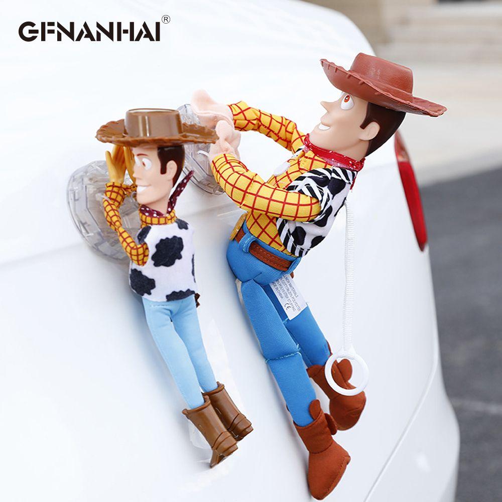 Belle histoire de jouets Sherif Woody voiture poupée en peluche jouets à l'extérieur jouet mignon Auto accessoires vente chaude voiture décoration jouet 25/35/45CM