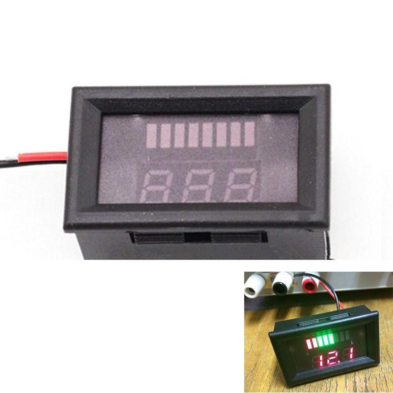 12 V Blei-säure Batterie Anzeige Batteriekapazität LED Tester Voltmeter Ladung Batteriestandsanzeige Blei-säure