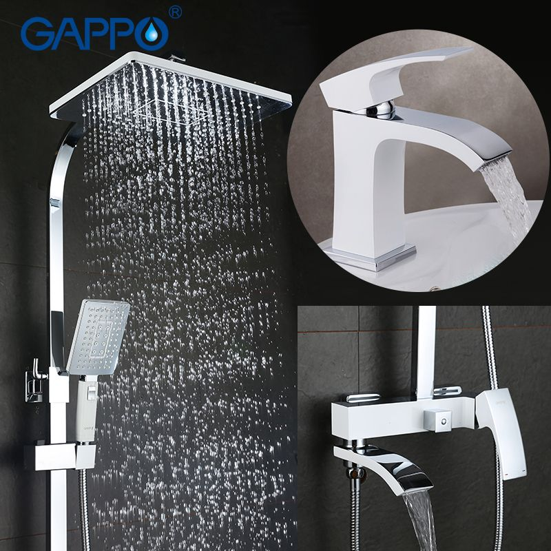 GAPPO Bathtub Faucets Shower Faucets Bathroom mixer shower bathtub rainfall shower set Basin Faucet set shower system