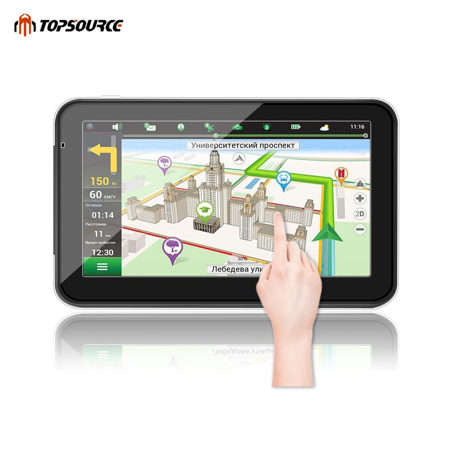 TOPSOURCE 5 7 256M 8G hd car gps navigation truck gps navigator preload gps map windows ce6.0 800mhz MSB2531 ARM Cortex A7