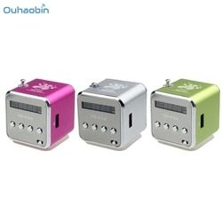 2017 HOT Featured Multicolor MP3 Player Amplifier Micro SD TF Card USB Disk Speaker With FM Radio Fashion Speakers Set24
