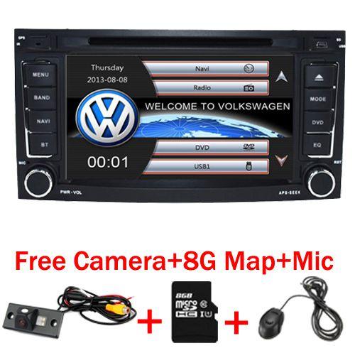 2 din 7 inch Car DVD VW Touareg Multivan T5 (2002-2010) GPS 3G Bluetooth Radio RDS USB Steering wheel Canbus Free 8G MAP Camera