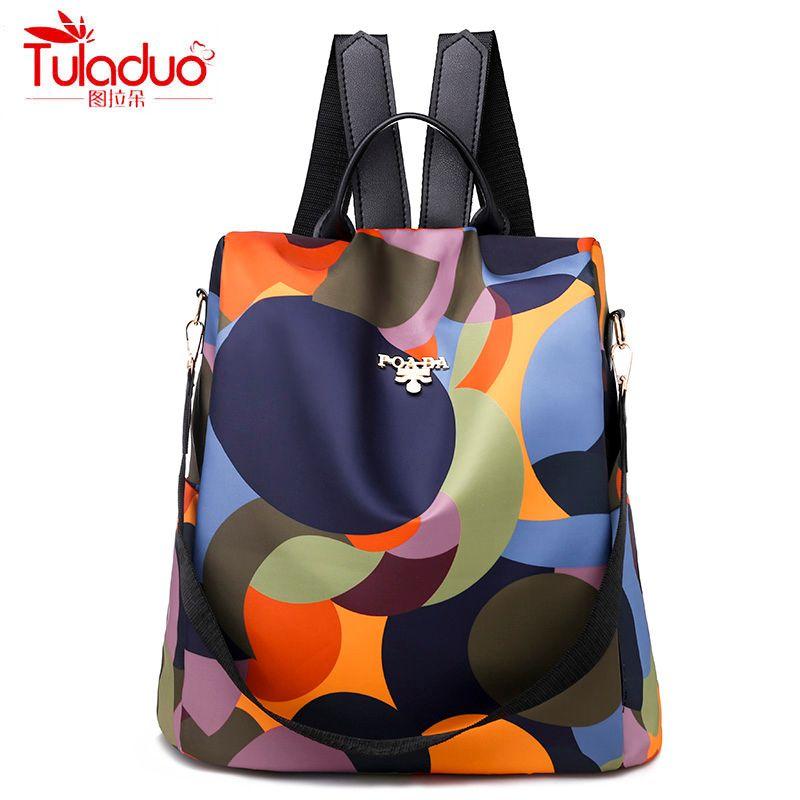 Haute qualité imperméable à l'eau Oxford femmes sac à dos mode Anti-vol femmes sacs à dos célèbre marque dames grande capacité sac à dos