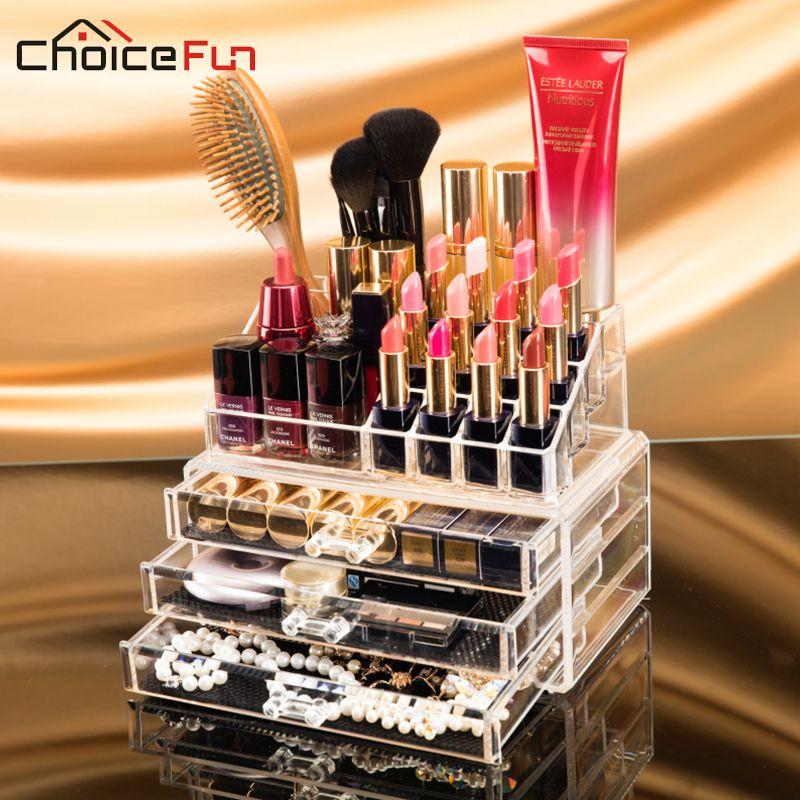 CHOIX FUN Maquillage 0 rganizer Acrylique Boîte De Rangement Maquillage Make Up Organizador 0 rganizador De Gaveta Boite Un Bijoux SF-1304