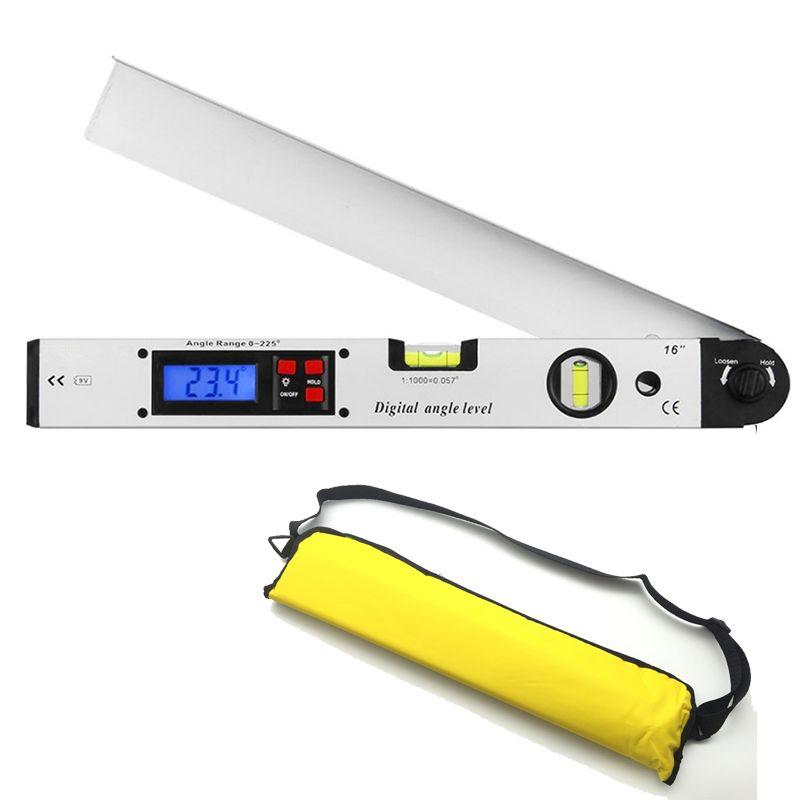0~400mm degree Protractor Spirit Level Digital Angle Finder Gauge Meter