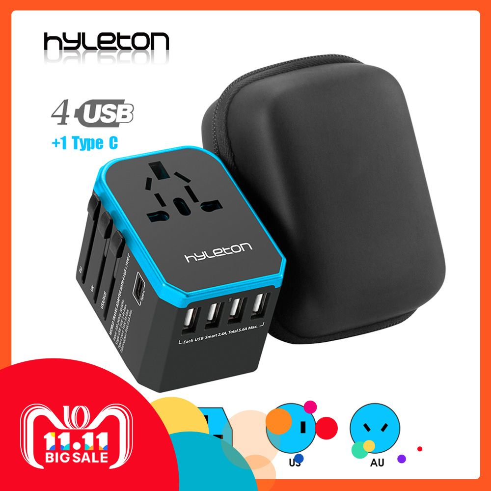 Hyleton travel adapter Universal Power Adapter Charger worldwide adaptor wall Electric Plugs Sockets Converter for mobile phones