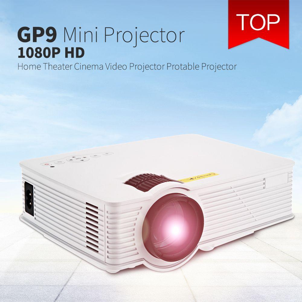 GP9 GP-9 мини домашний кинотеатр 2000 люмен 1920x1080 пикселей МУЛЬТИМЕДИА HD ЖК-проектор для домашнего кинотеатра HDMI/USB /SD/AV VS GP12 GP-12