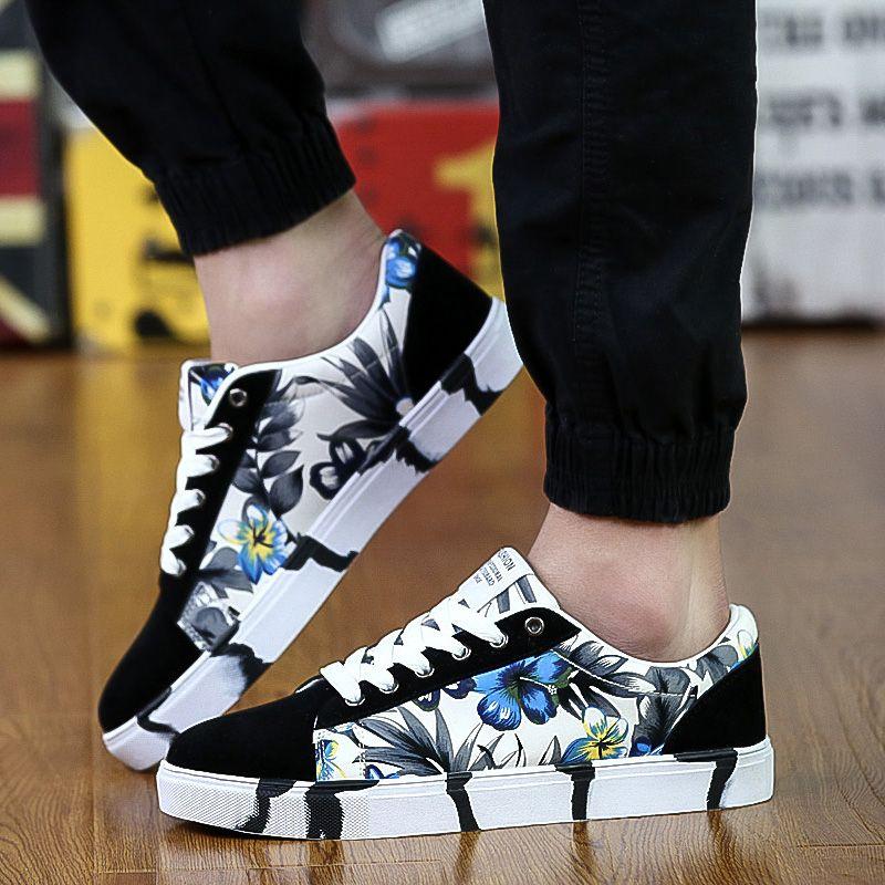 2018 new Fashion men casual shoes flats men's shoes Big size 36-45 Color 5