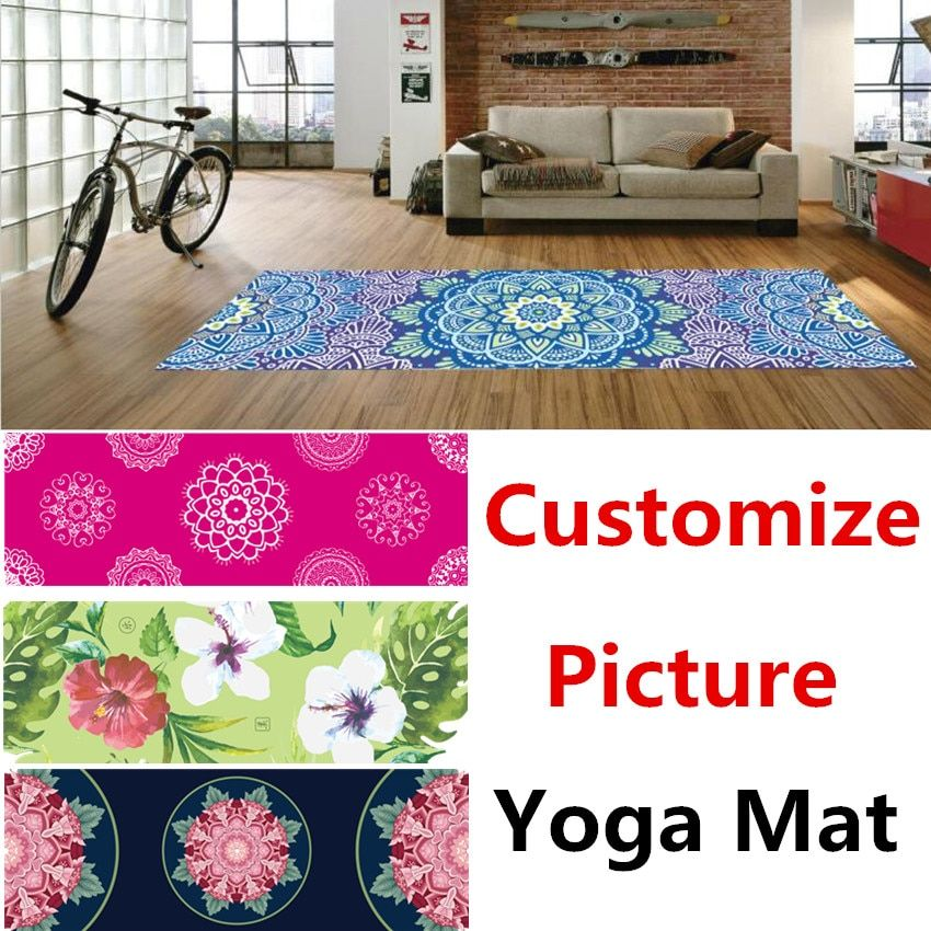 2017 New Suede Cover Yoga Gymnastics Mat 183*60*0.1 Fitness Pilates Tasteless Rubber Yoga Gym Exercise Mats