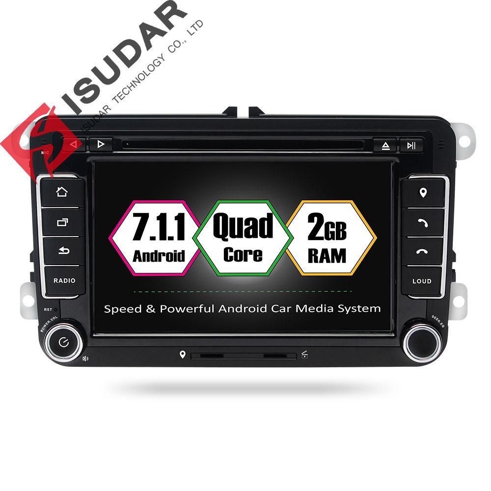 Android 7.1.1 2 DIN 7 дюймов dvd-плеер автомобиля для VW/Volkswagen/POLO/Passat/Гольф/ SKODA/Octavia/сиденье Оперативная память 2 г WI-FI GPS навигации Радио