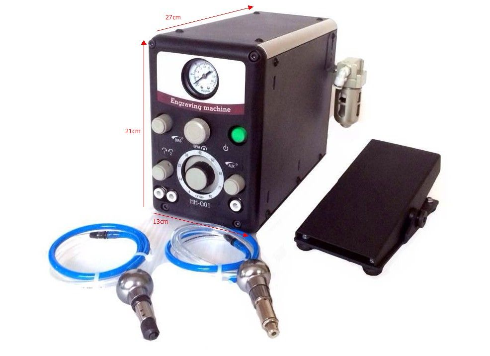 Hohe Qualität Stichel G8 Schmuck Pneumatische Auswirkungen Gravur Maschine Graveur System mit 2 Handstücke goldschmied ausrüstung