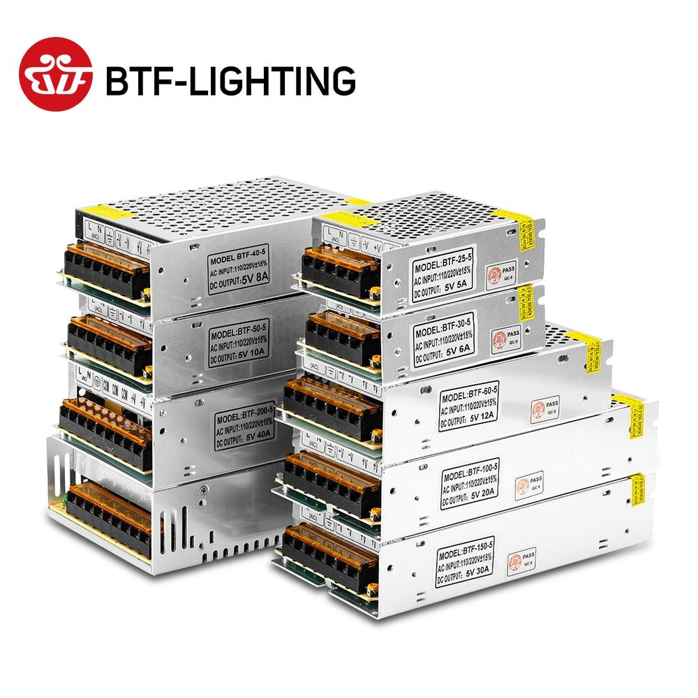 5V 2A/3A/4A/5A/8A/10A/12A/20A/30A/40A/60A Commutateur alimentation LED Transformateurs WS2812B WS2801 SK6812 SK9822 APA102 LED Bande