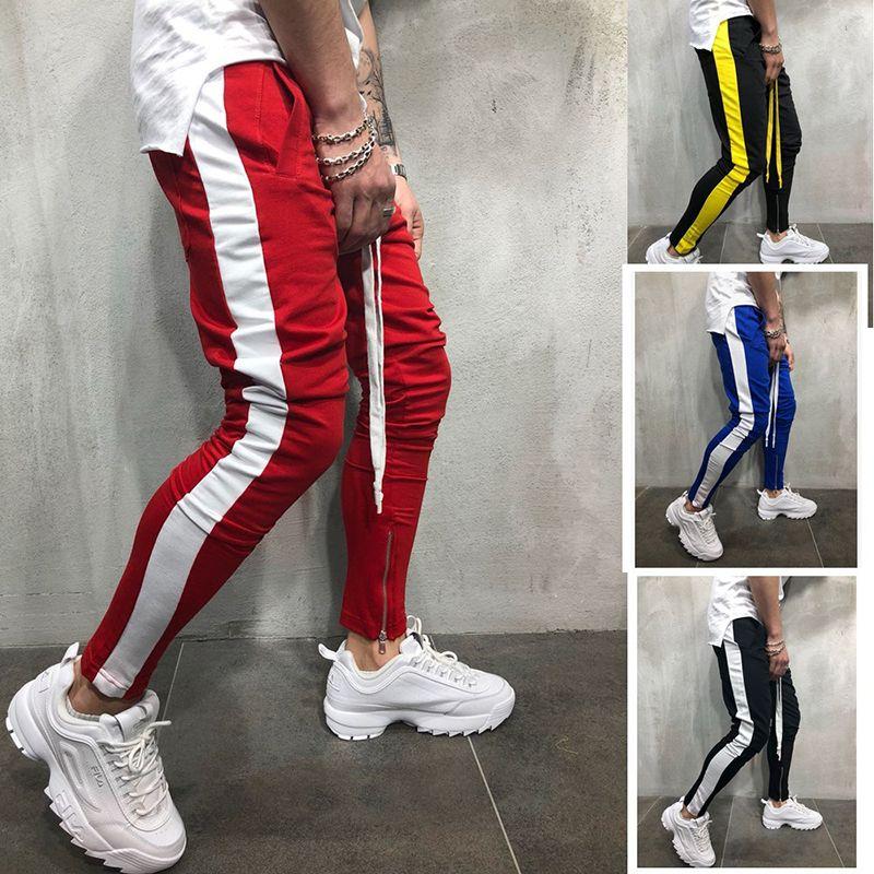 Huation 2018 New Men Pants Hip Hop Sportswear Fitness JoggersTrousers Mens Streetwear Track Pants Gyms Sweatpant pantalon hombre