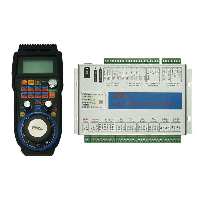 4 Axis CNC Standard Board 6 Axis MACH3 USB Motion Control Card MK4 MK6 Wireless Hand Wheel