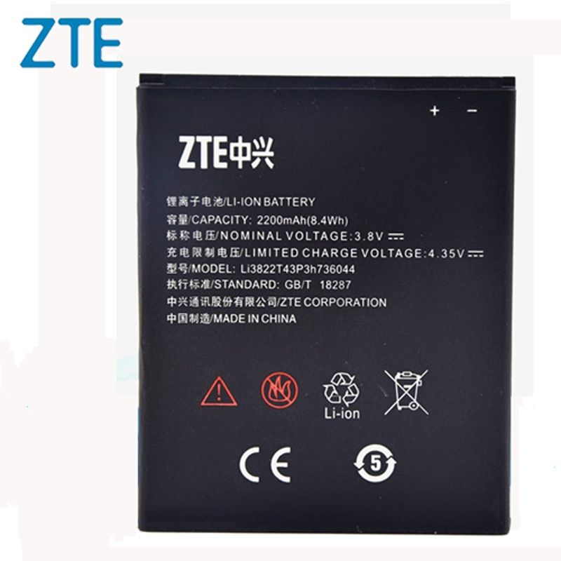 Original ZTE Li3822T43P3h736044 phone battery For ZTE Blade L4 A460 2200mAh