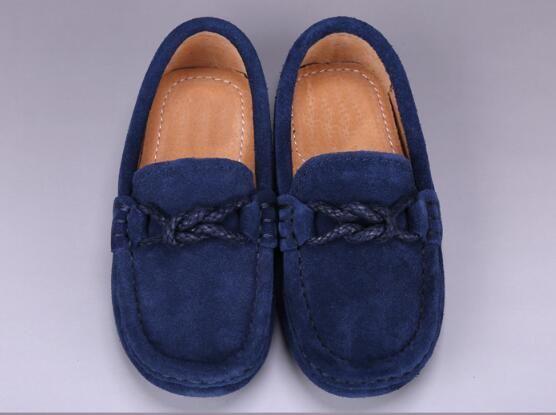 2018 spring fashion casual flat leather scrub boy peas shoes