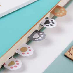 1PC 5 Colors Cute Mini Cat Paw Memo Notepad Notebook Memo Pad Self-Adhesive Sticky Notes Bookmark Gift Stationery