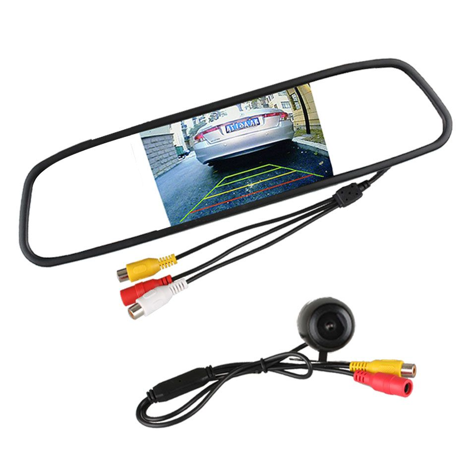 Universal Car Rear View Camera 120 Degree Angle Reverse Camera with 4.3