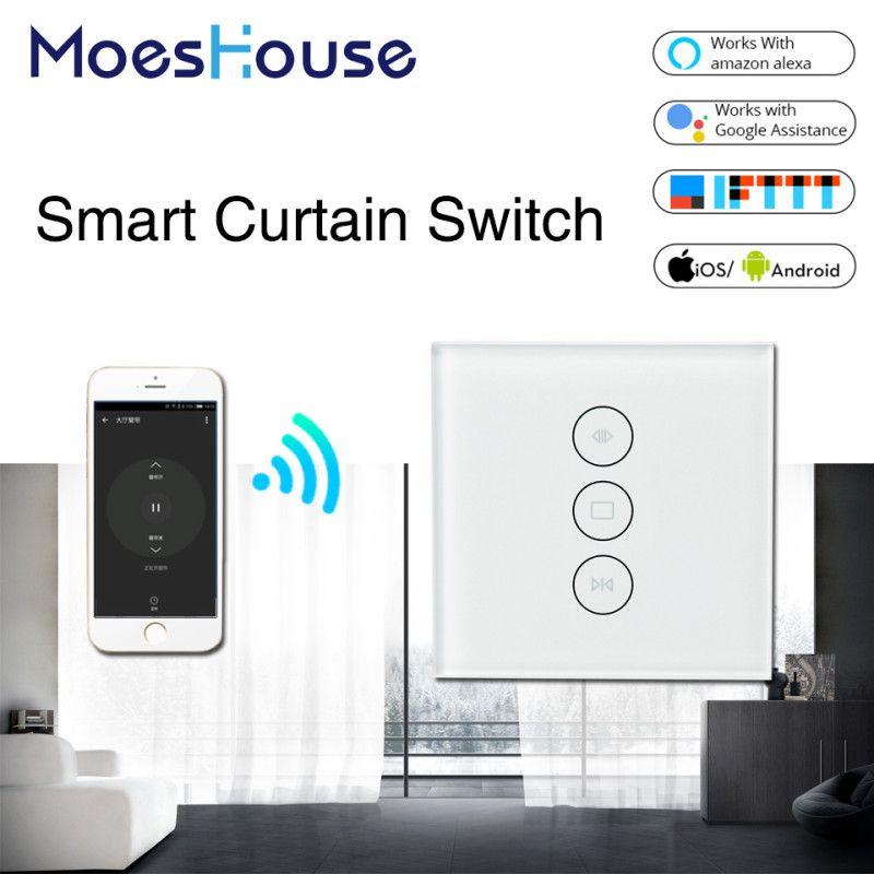 WiFi Smart rideau interrupteur vie intelligente Tuya pour rideau motorisé électrique store volet roulant fonctionne avec Alexa et Google Home