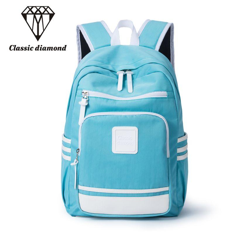 Klassische Diamanten Bonbonfarben Rucksäcke Für Teenager Mädchen Und Jungen Studenten Buch Taschen 15,6 zoll Notebook Laptop Rucksack