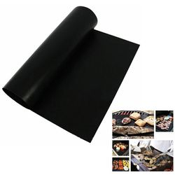 2 pcs/lot  Reusable  BBQ Mat Teflon Fiber Non-Stick BBQ Grill Mat Sheet Hot Plate Portable Easy Clean Foil BBQ Accessories