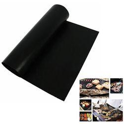 Reusable  BBQ Mat Teflon Fiber Non-Stick BBQ Grill Mat Sheet Hot Plate Portable Easy Clean Foil BBQ Accessories