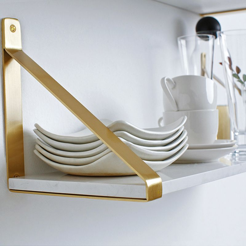 Gold Nordic Wall Decoration kitchen Magazine Storage Holders Racks Brass Modern Design Hanger for corridor Rails bookrack shelf