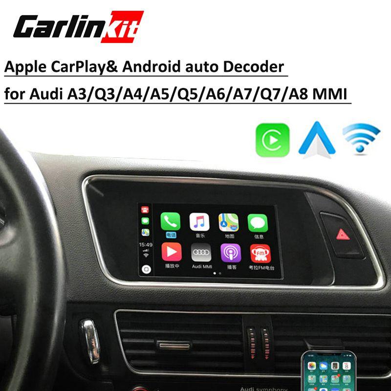 Aftermarket Drahtlose Apple Carplay & Android auto Lösung für Audi Q5 A4 A5 A6 A7 Q7 A3 Q3 B9 A8MMI mit Reverse Kamera